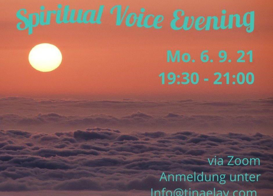 Spiritual Voice Evening 6. September 2021